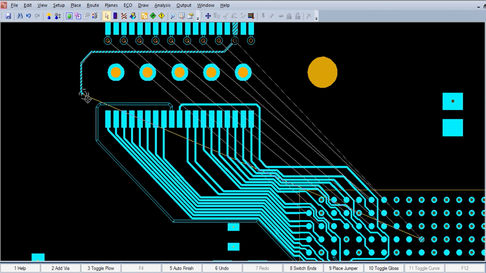 Sample of PCB tracing