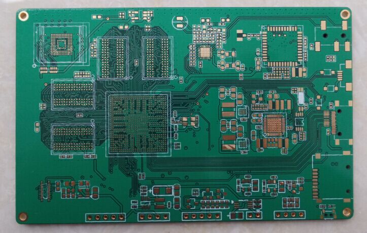 HDI PCB with components