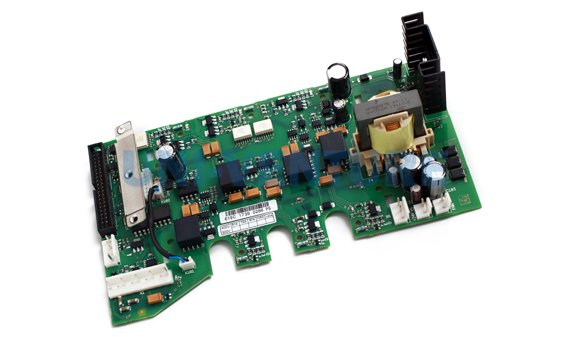 PCB with components