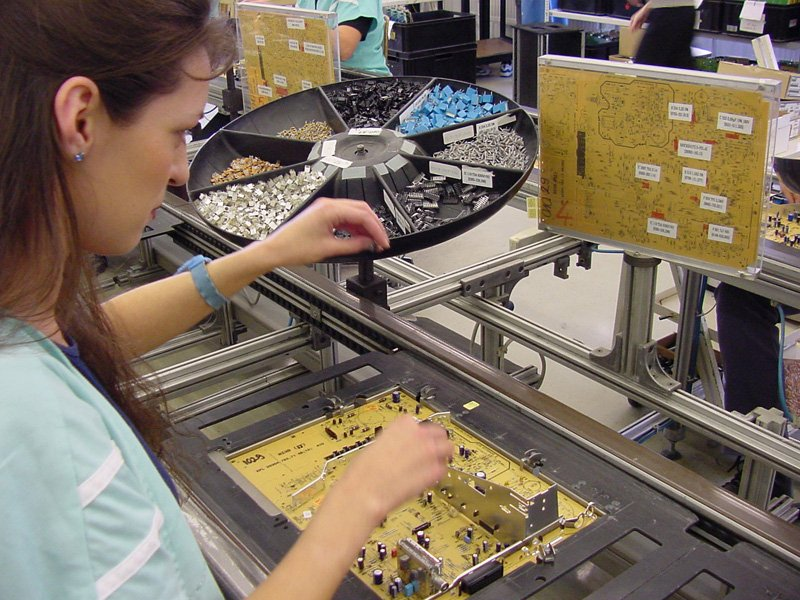 Manual assembly of PCB