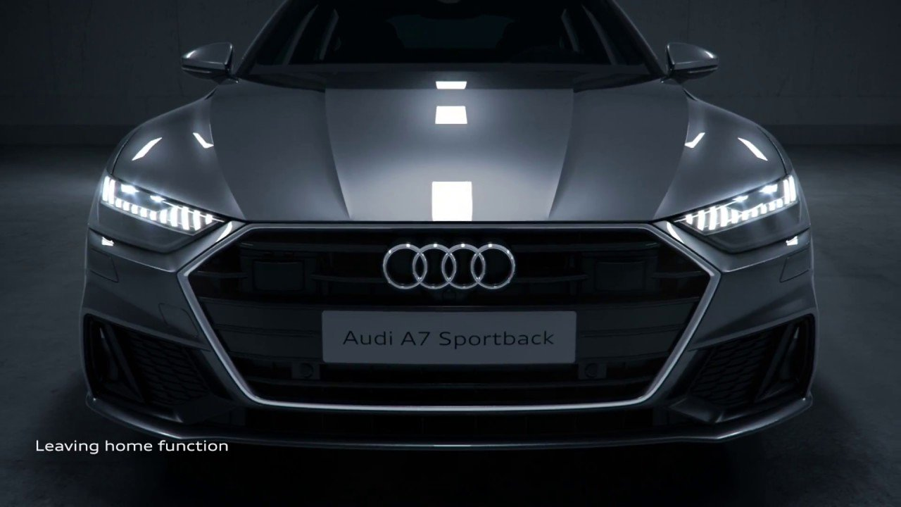 Audi with LED lights