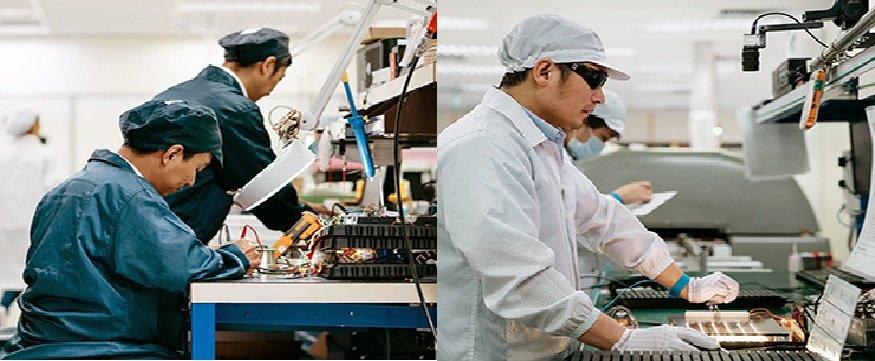 Manual PCB assembly