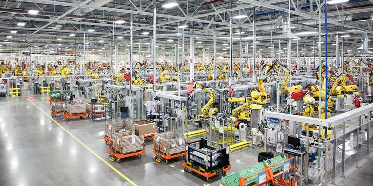 Automated vehicle assembly plant