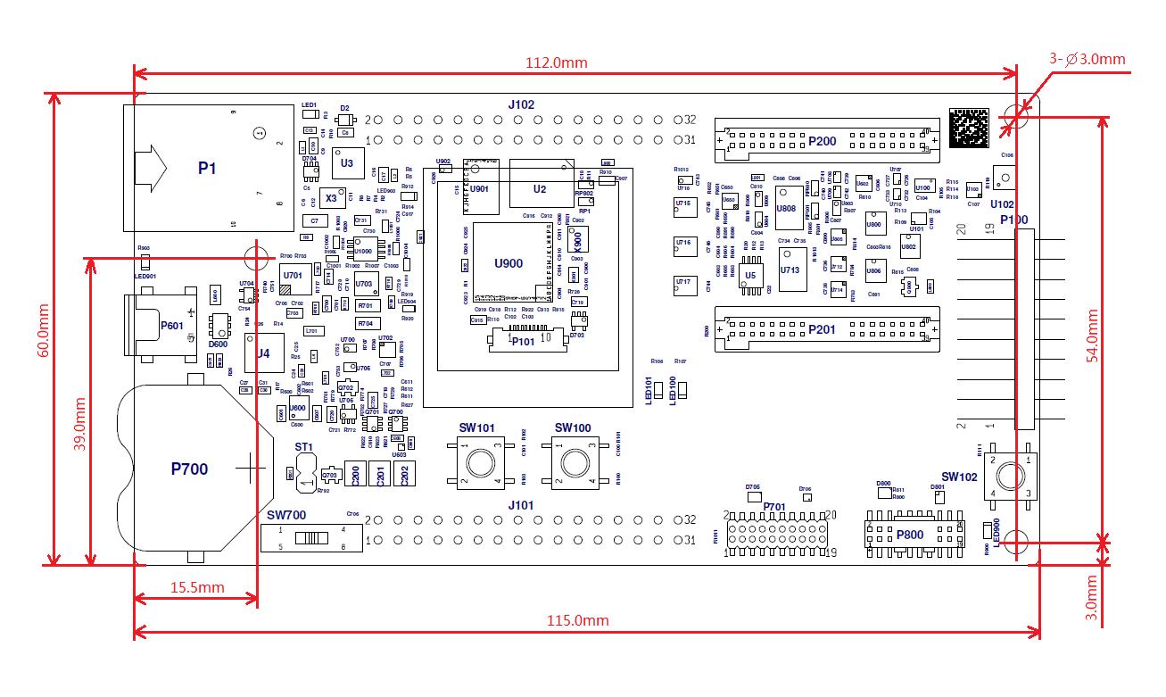 PCB dimensions