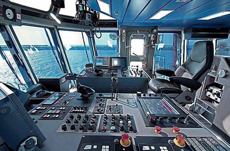 Ship control room