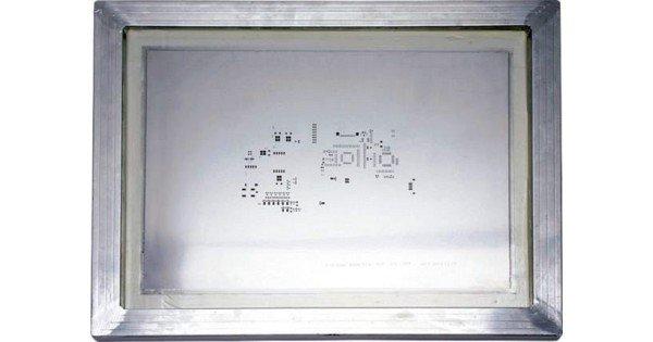 Frammed PCB Stencil