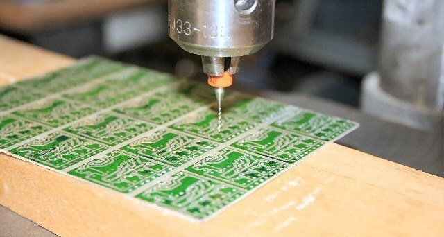 Drilling holes on PCB
