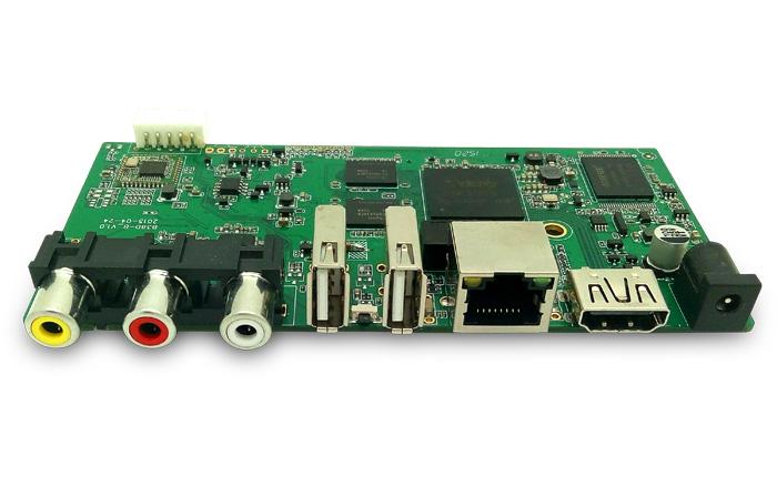 Section of consumer electronic PCB