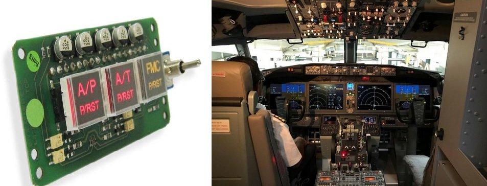 Plane cockpit PCB
