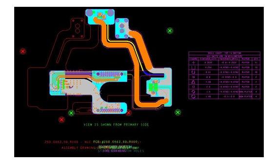 Flexible PCB layout