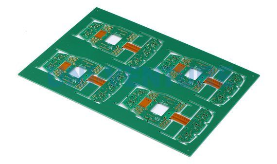 Single sided rigid flex PCB