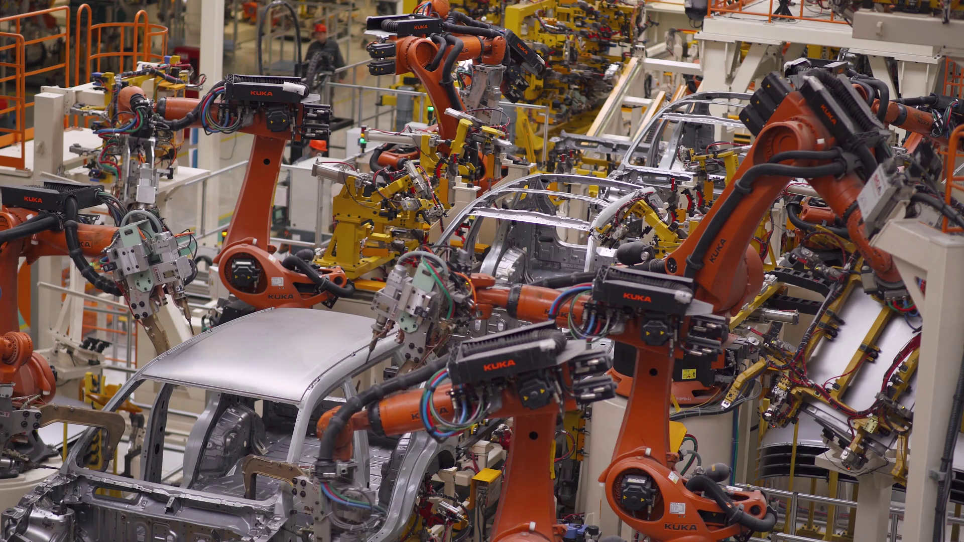 Fully automatic vehicles assembly plant