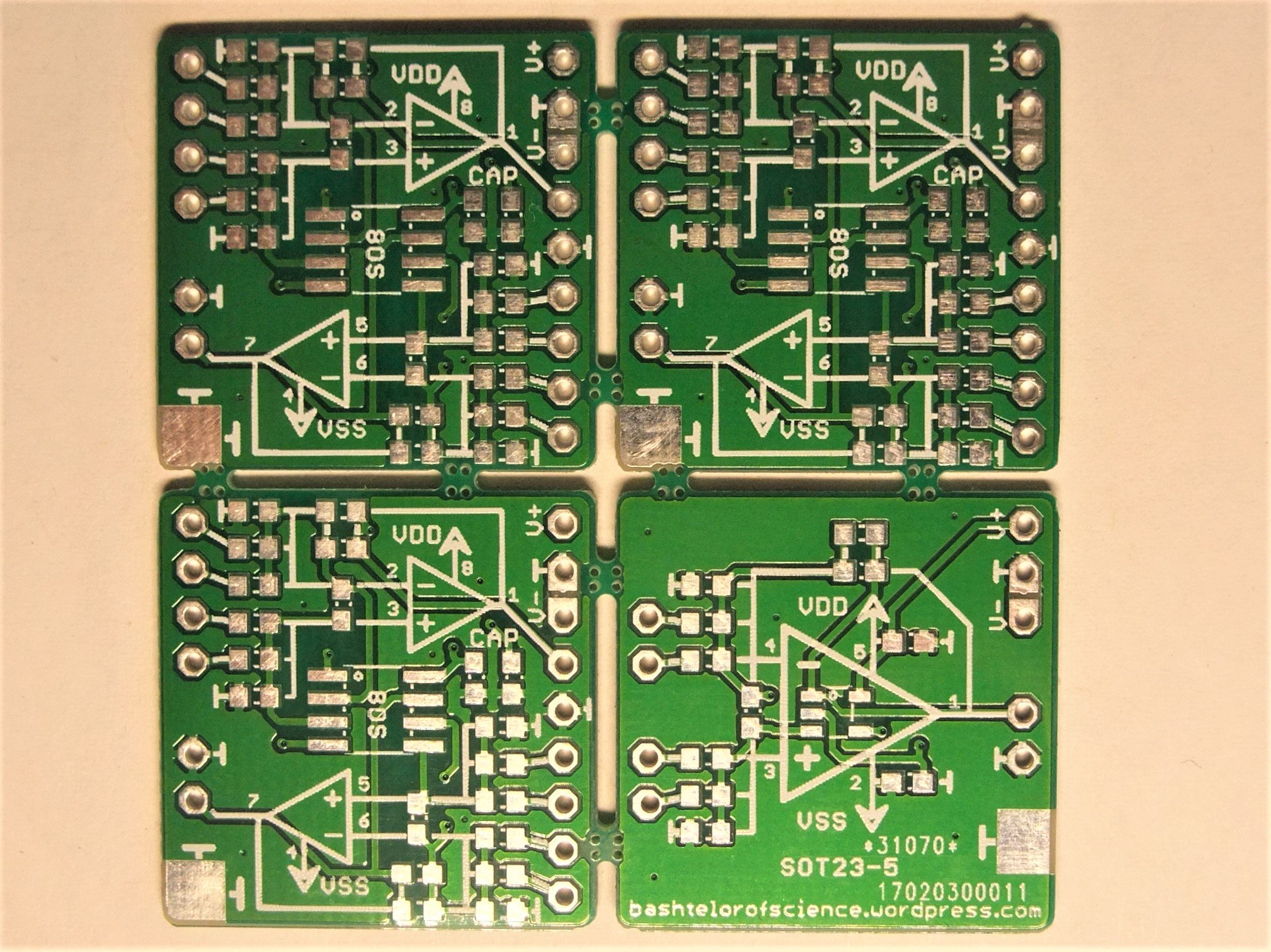 Operational amplifier PCB