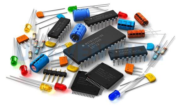 Amplifier PCB components