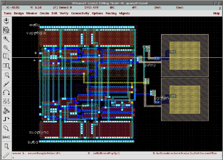 Operational amplifier layout