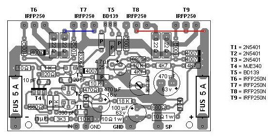 MOSFET amplifier based circuit