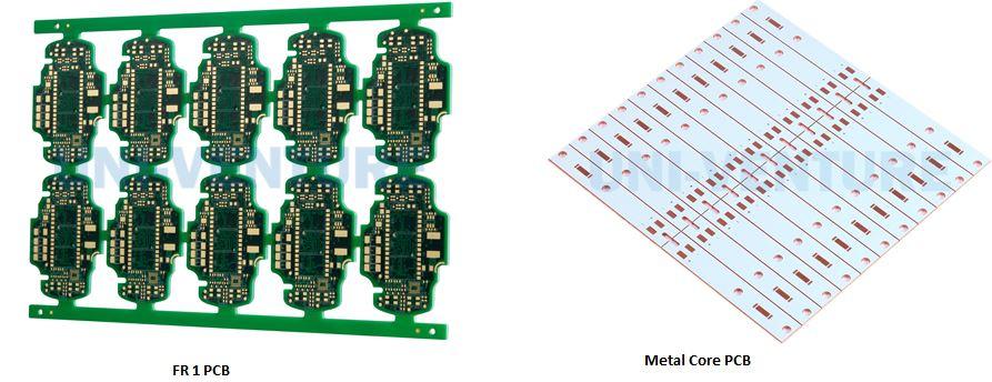 FR 1 PCB and Metal Core PCB